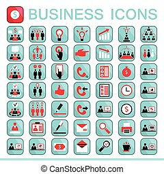 Web icons business finance office