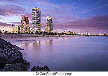 South Beach, Miami, Florida - Miami, Florida, USA at South...