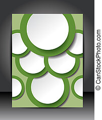 Illustration for your business presentations. Brochure design template, vector background