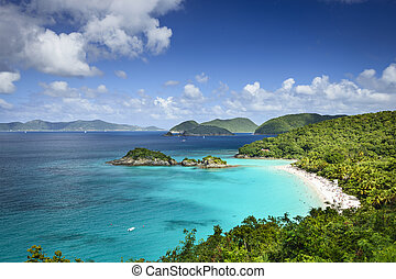 St. John Island - St. John, US Virgin Islands at Trunk Bay.