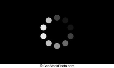 Loading Circle w Alpha 60fps - Ten animated dots fading in...