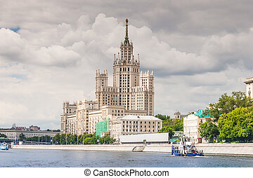 Kotelnicheskaya Embankment Building near Moscow river and...