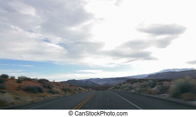 Driving Thru Arches National Park 2 - Car mounted camera...