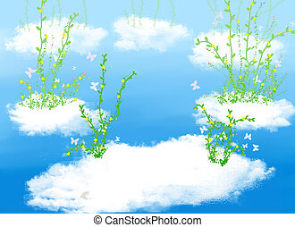 Cloud and  plant