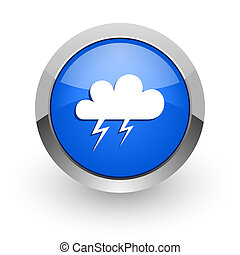 storm blue glossy web icon - blue glossy web icon