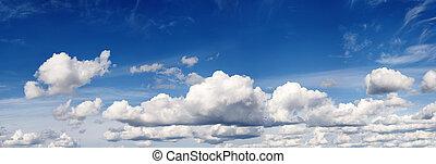 Cloudy blue summer sky