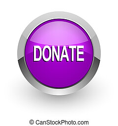 donate pink glossy web icon
