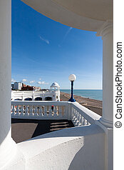 View through a Colonnade in the Grounds of the De la Warr...
