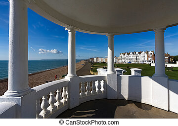 View from a colonnade in the grounds of the De la Warr...