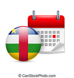 Icon of National Day in Central African Republic - Calendar...