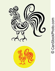 rooster ornamental.