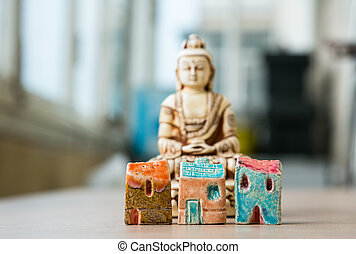 Tranquility and relaxation in megapolis - Three symbolic toy...