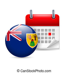 Icon of National Day on Turks and Caicos Islands - Calendar...