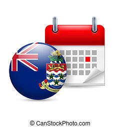 Icon of National Day on Cayman Islands - Calendar and round...