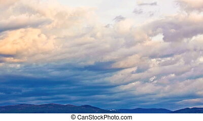 Timelapse of clouds in Sky