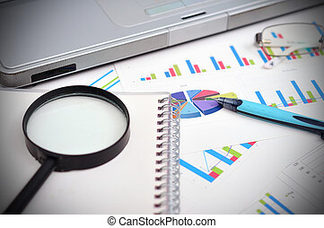 financial report - market analysis concept with financial...