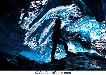 Mesmerizing - Inside an icecave in Vatnajokull, Iceland. A...
