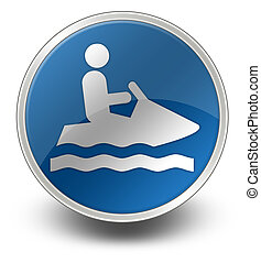 Icon, Button, Pictogram Personal Watercraft - Icon, Button,...