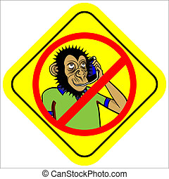 no phone sign - warning sign no mobile phone or noise vector