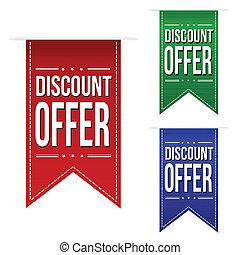 Discount offer banner design set