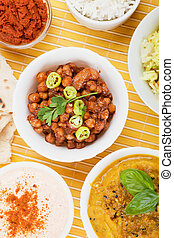 Chana masala, spicy asian chickpea meal
