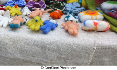 Handmade woolen toys - Colorful colourful little handmade...