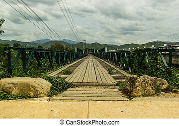 Historic iron bridge Built by the Japanese during World War 2. i