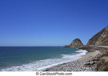 Beach at Point Mugu, SoCal - Sand and rocks beach near Point...