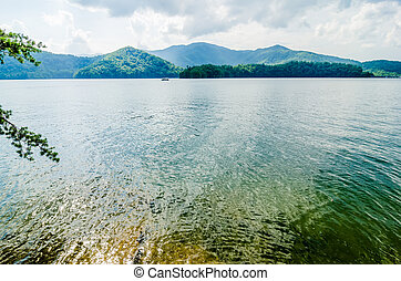 lake santeetlah in great smoky mountains nc - lake...