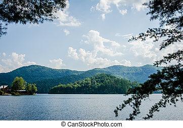 lake santeetlah in great smoky mountains nc - lake...