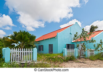 Dutch colorful houses on Bonaire, Caribbean - These houses...