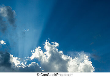 Bright sun light sky