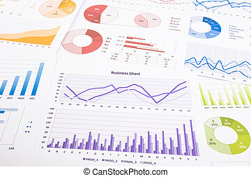 colorful graphs, data analysis, marketing research and...