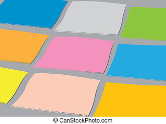 colourful vector paper sheets