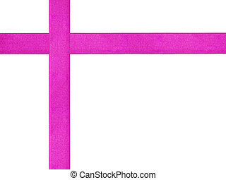 purple ribbon cross template isolated, just put bow on it
