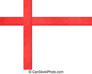 red ribbon cross template isolated, just put bow on it