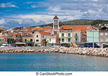 Vodice is a small town on the Adriatic coast in Croatia -...