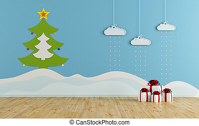 Christmas playroom - Playroom with christmas decoration -...