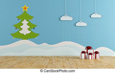 Christmas playroom - Playroom with christmas decoration -...