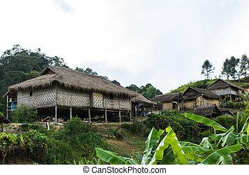 Hilltribe village, Shan State, Myanmar (Burma)