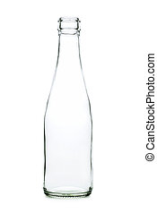 Glass bottle with a white liquid. The materials can be...