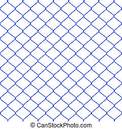 Blue chainlink fence