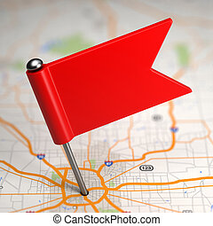 Blank Small Flag on a Map Background. - Blank Small Flag on...