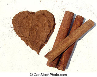 Cinnamon - Heart from cinnamon