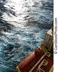 Lifeboat - Lifeboat on a container ship...