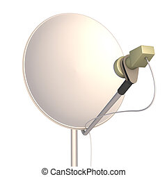 satellite dish on a white background 3d render