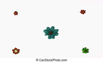 sunflower stopmotion - plasticine flower animation over...