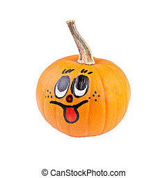Halloween pumpkin with smile face