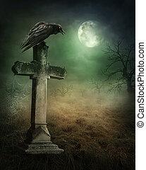烏鴉, 墳墓