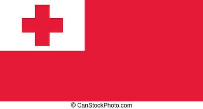 Tonga flag - Vector Kingdom of Tonga flag
